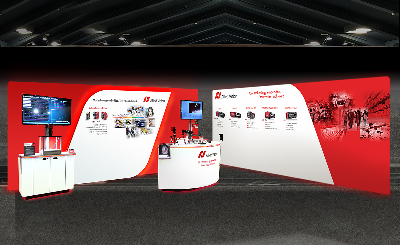 Allied Vision 10' x 20' Booth, Front & Back Sides