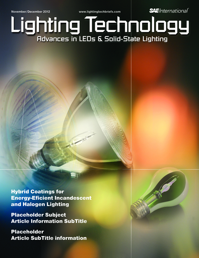 Lighting Technology is an SMM-Designed Cover Promoting DSI Article on Hybrid Coatings for Energy-Efficient Lighting