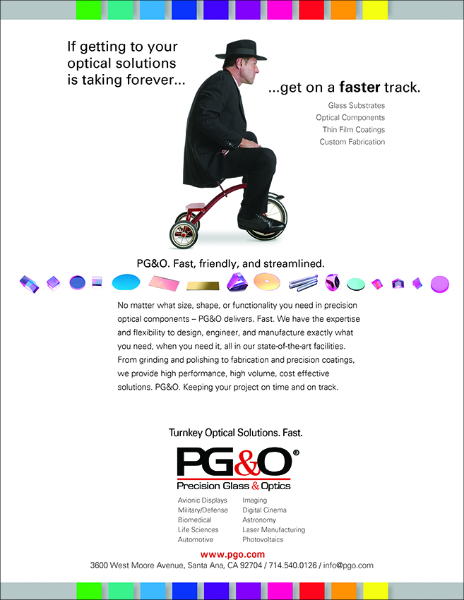 PG&O Fast Delivery of Optical Components