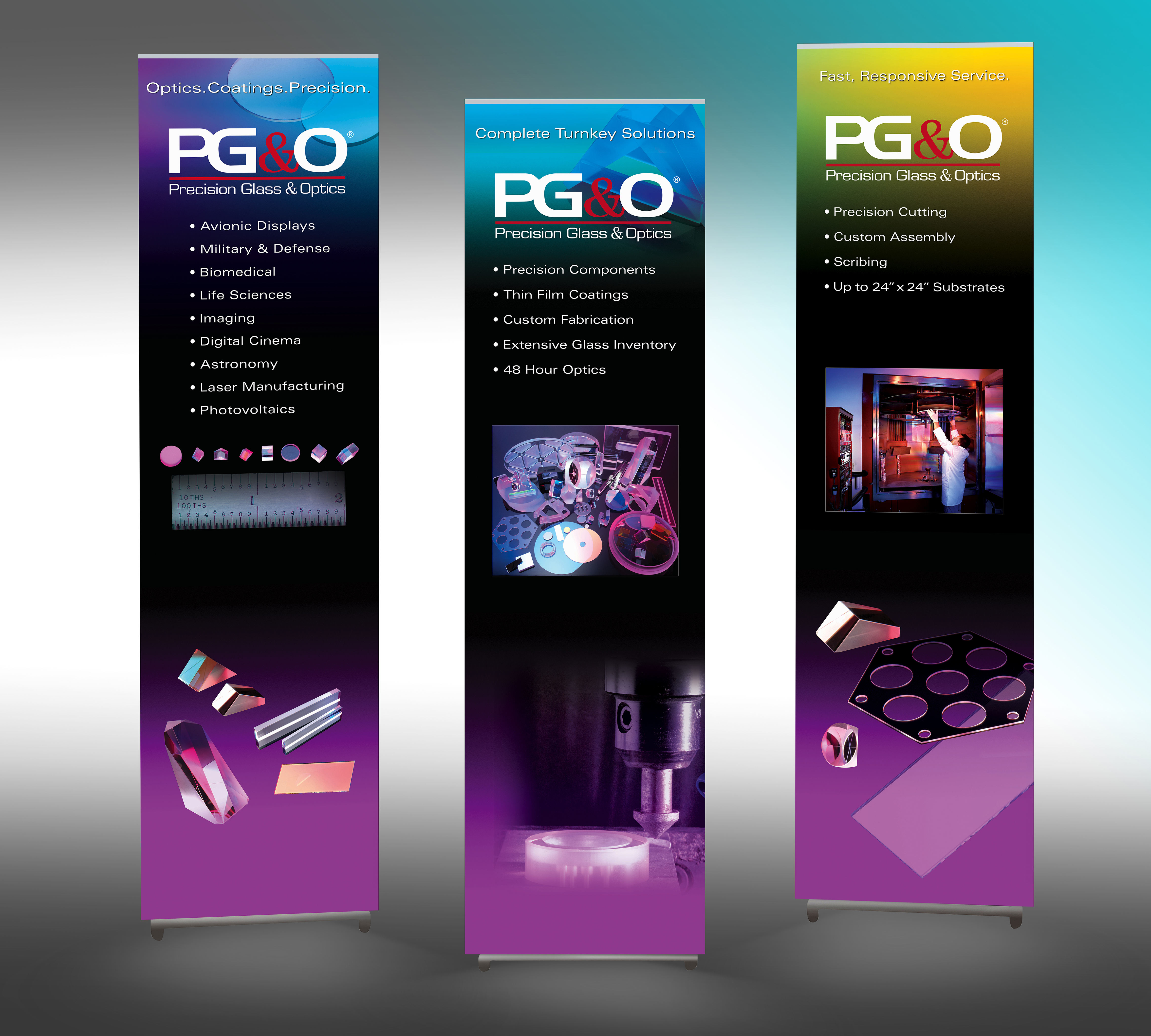 Modular displays or pull-up banners are handy for displaying at smaller shows and conferences.