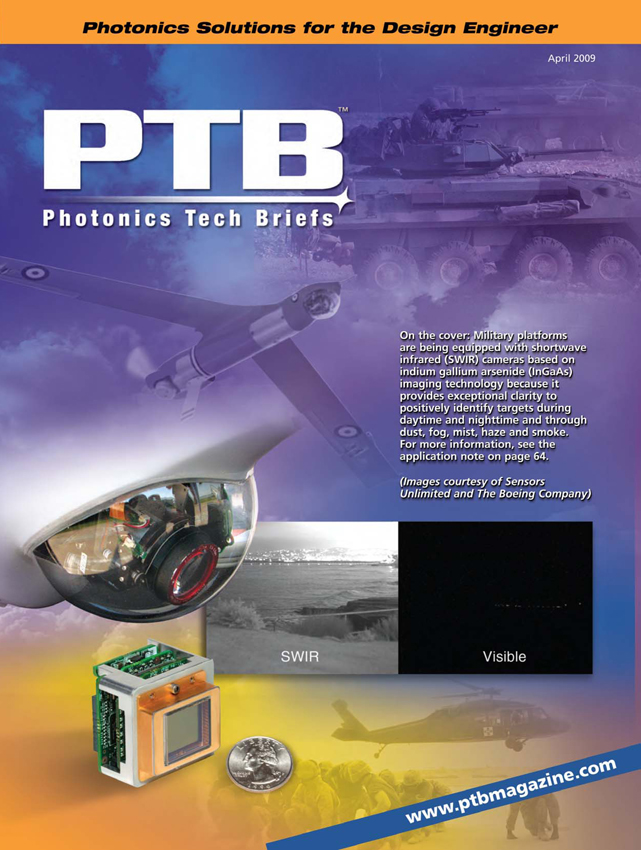 SMM Produced Cover on Photonics Tech Briefs to Illustrate Use of Sensors Unlimited SWIR Cameras on UAV Payloads