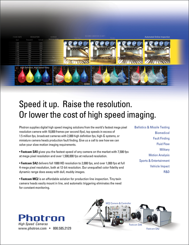 Photron High Speed Cameras for Slow-Motion Analysis Ad