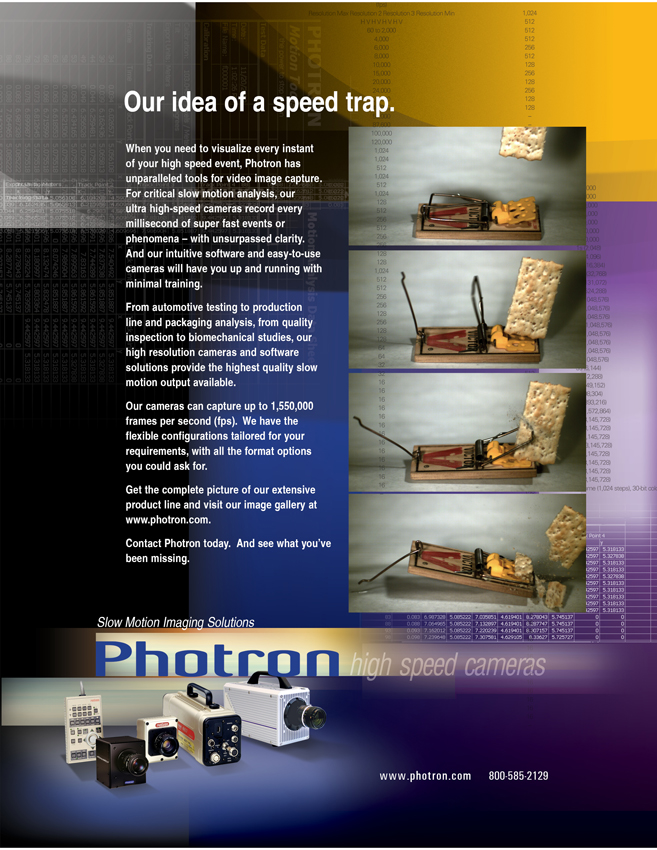 Photron High Speed Cameras for Slow-Motion Imaging Ad