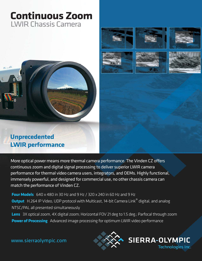 Sierra-Olympic Continuous Zoom Long-Wave IR Chassis Camera Ad