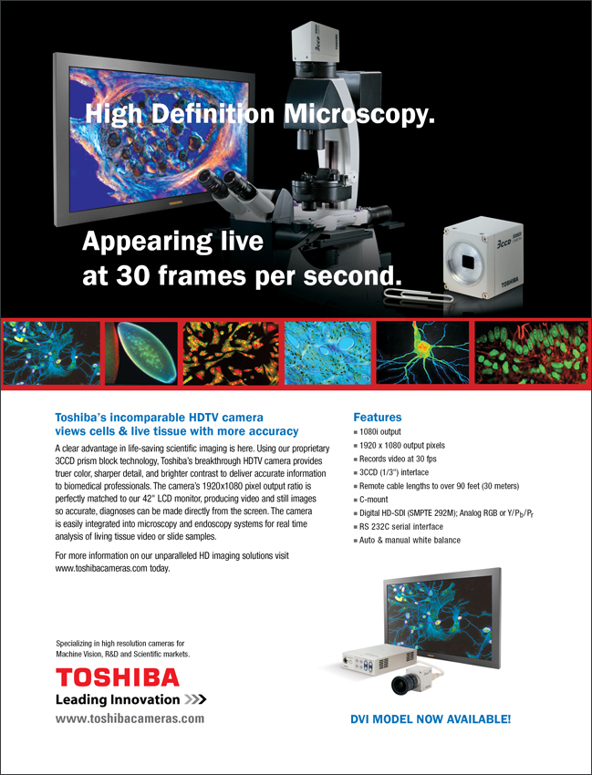 Toshiba Imaging High-Definition Cameras for Microscopy Ad