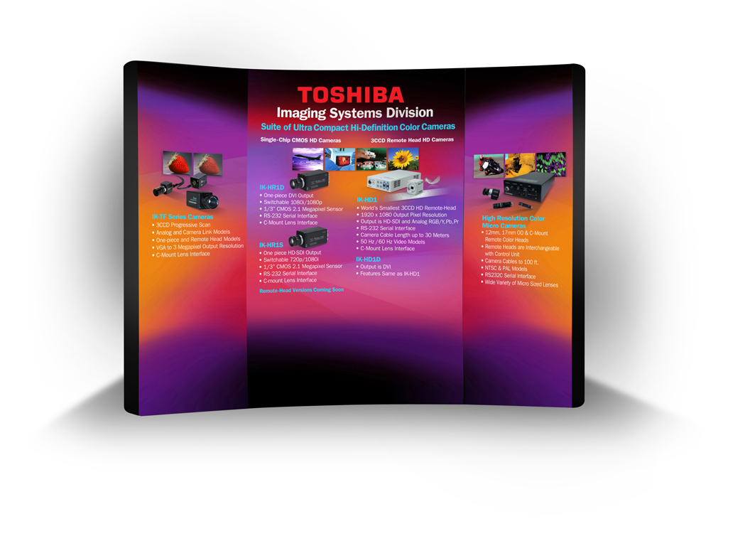 Toshiba Imaging Booth Describes CMOS and CCD Video Camera Offerings